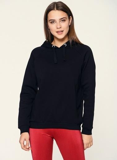 Loves You Kapüşonlu Sweatshirt Siyah